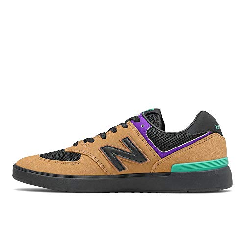 New Balance Zapatillas Iconic 574 V1 para Hombre, marrón y Negro, 7 Wide