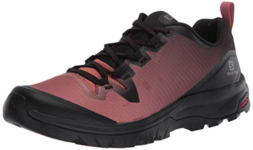 Salomon Women's Hiking Shoe, black/cedar Wood/Black,7.5 D (M)