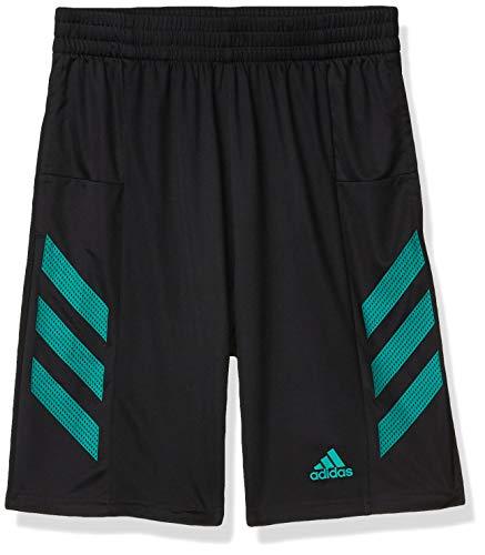 adidas Active Sports Athletic Shorts Pantalones Cortos, Pro Sport 3s Negro/Verde, 2 Años para Niños