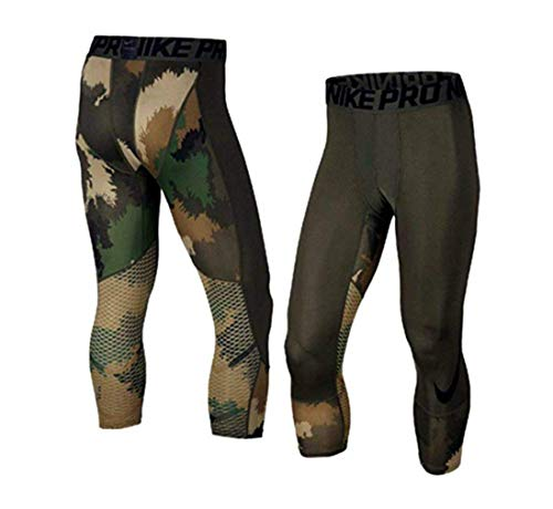 Nike Men's Pro Hypercool Printed 3/4 Training Tights 904632 325 (m)