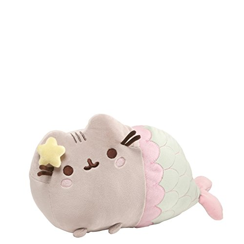 """GUND Pusheen Mermaid with Star Plush Stuffed Animal Cat, 12"""""""