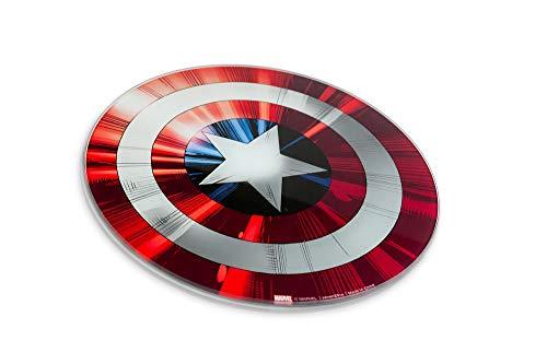 Marvel Captain America's Shield Non-Slip Glass Cutting Board...