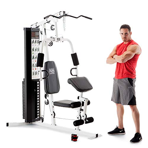 Marcy Dual-Functioning Upper and Lower Body 150-Pound Stack Home Gym Workout...