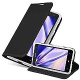 Cadorabo Hülle für Nokia Lumia 625 in Classy SCHWARZ - Handyhülle mit Magnetverschluss, Standfunktion & Kartenfach - Hülle Cover Schutzhülle Etui Tasche Book Klapp Style