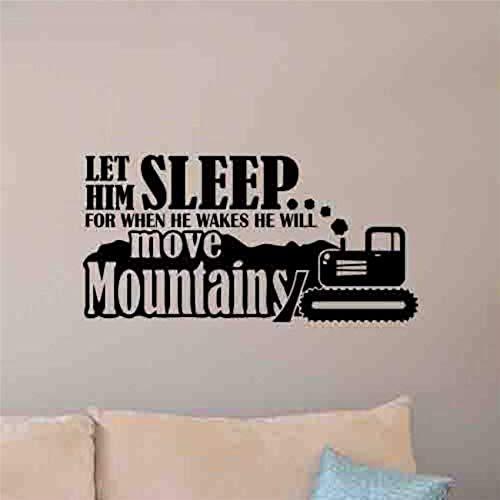 Calcomanía de pared póster de bulldozer pegatina para dormitorio juego decoración artística decoración del hogar vinilo extraíble pegatina de pared para habitación de niños 42 * 85 cm