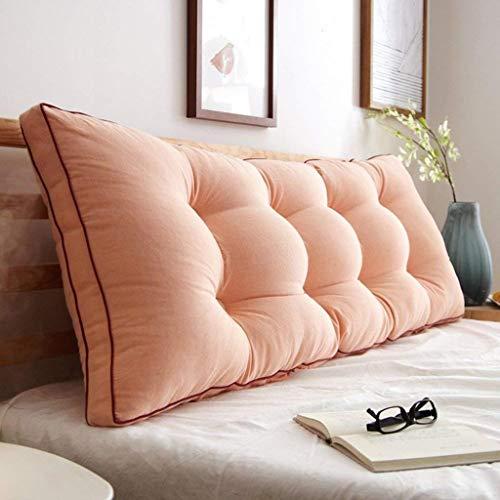 AFQHJ Afneembare Bedside Rugkussen, Slaapbank Gestoffeerde kop, Soft Tatami dubbele grote lendensteun kussen (Color : W, Maat: 200x20x50cm)