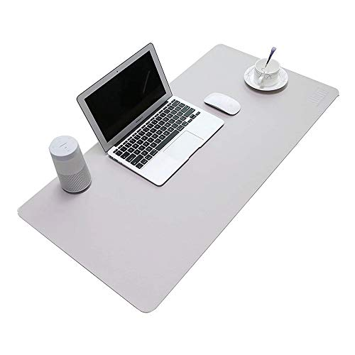 """Price comparison product image Bemodst PU Leather Mouse Pad Mat Waterproof,  Perfect Desk Writing Mat for Office and Home, Ultra Thin 2mm - 31.5""""x15.8"""" (Gray)"""