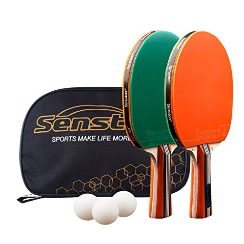 Lowest Prices! Senston-Ping-Pong-Paddles-Set 2 Player Table Tennis Racket Set with 3 Ping Pong Ball ...