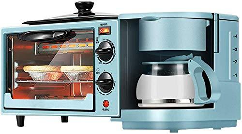 WONOOS multifunctionele ontbijtmachine met drie verschillende functies: Can Fry Steaks, bakken cake, maak koffie, ontbijt, middagsteen en familiefeesten.