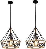 Moderna canapa diamante industriale in stile classico lampadario lampada industria lampadario per un soggiorno, camera, studio, sala da pranzo, ecc,Black