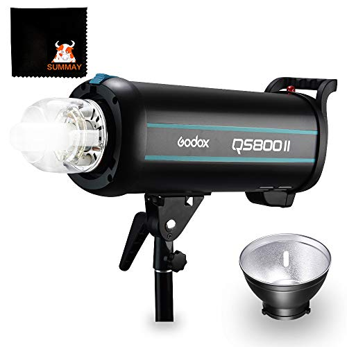 GODOX QS800II Studio Strobe Flash Light 800Ws Professional Photography Studio Light Monolight 150W Modeling Lamp for Indoor Studio Portrait Photography (QS800II)