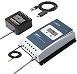 EPEVER 40A MPPT Solar Charge Controller 100V PV Max Input Negative Ground LiFePo4 Battery Charger W/ MT50 Remote Meter & Temperature Sensor Tracer4210AN