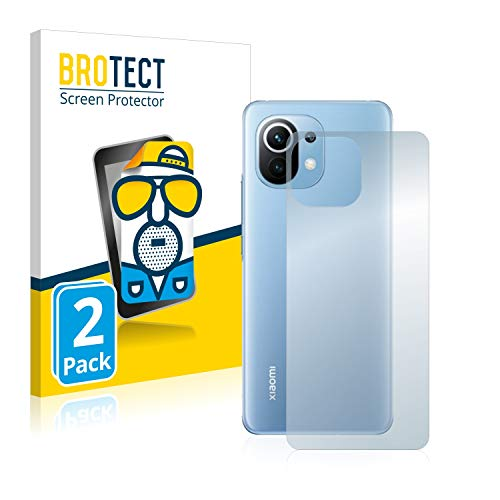 BROTECT 2X Entspiegelungs-Schutzfolie kompatibel mit Xiaomi Mi 11 Lite (Rückseite) Bildschirmschutz-Folie Matt, Anti-Reflex, Anti-Fingerprint