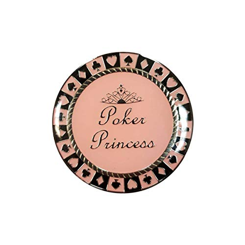 Card-Guard Poker Princess - en métal - 2 Faces différentes - 50mm de diamètre
