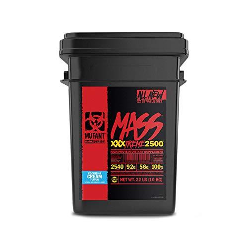 PVL Mutant Mass Xtreme 10kg Protein Pulver Muskel Gainer (Keks und Sahne (Cookies and cream))