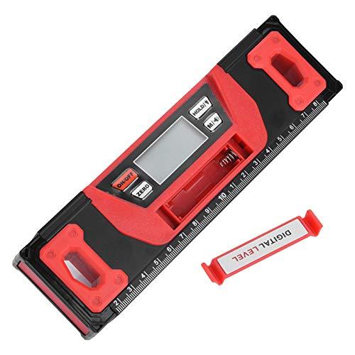 Inclinómetro 200mm conveniencia para uso nocturno duradero para usar base magnética Inclinómetro digital LCD transparente para la industria para mediciones
