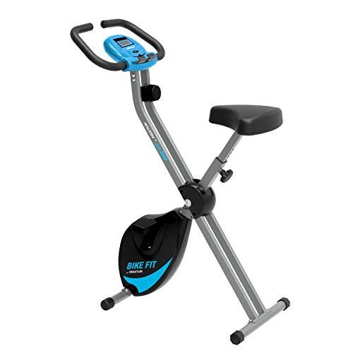 PRIXTON Bike Fit BF100 - Bicicleta Estatica Plegable con 8 Niveles de Resistencia, Ajuste de Asiento, Soporte para Tablet/móvil Integrado, Pantalla LED con Velocidad, Tiempo, Distancia, calorías