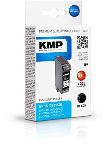 KMP H9 - Cartucho de tinta HP Nº15 C6615DE, color negro