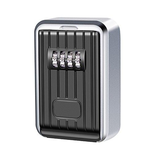 Schlüsseltresor,Key Lock Box Mit 4-stelligem Zahlencode wasserdicht und rostfrei Schlüsselkasten fürSchlüsselsafe zur Wandmontage für Zuhause Garage Schule Ersatz Haus Schlüssel