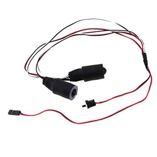 Homyl Feux Arrière Phare de Lampe LED Double Couleur pour Voiture de Camion sur Chenilles 1/10 RC - 17mm