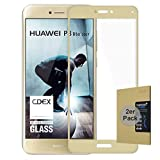 doupi 2X FullCover Protector de Pantalla Compatible con Huawei P8 Lite (2017), Cobertura Completa 3D 9H HD Duro Vidrio Templado, 2 Piezas, Dorado