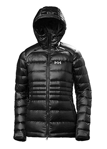 Helly Hansen Women's Vanir Icefall Lightweight Technical Hooded Down Jacket, 990 Black, X-Large