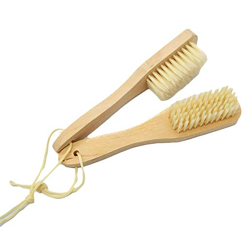 XXNOO Cepillo de Limpieza de Calzado, Servicio de Madera para el hogar Crema Exfoliante Limpiador de Piel, Abrigos para los Zapatos Botas Zapatillas Sofá - 2 Piezas