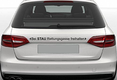 Dinger-Design Aufkleber Bei Stau Rettungsgasse freihalten Autoaufkleber 60 cm schwarz