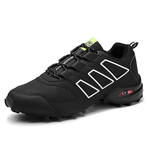 Zapatillas Trail Running Hombre Ligero Deportivas Hombre Zapatos para Correr Gimnasio Sneaker Zapatillas Trekking Botas Hombre Zapatillas Senderismo Montaña, Negro, Taille 42