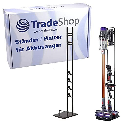Trade-Shop Halter Ständer Bodenständer Halterung für Dyson V6 V7 V8 V10 V11 DC30 DC31 DC34 DC35 DC58 DC59 DC62 DC74 Akkusauger Staubsauger Zubehör
