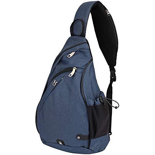 Cestbon Sport Schultertaschen Brusttasche Sling Rucksack Schultertasche Reise Daypack Umhängetasche Sporttasche Unisex,Blau