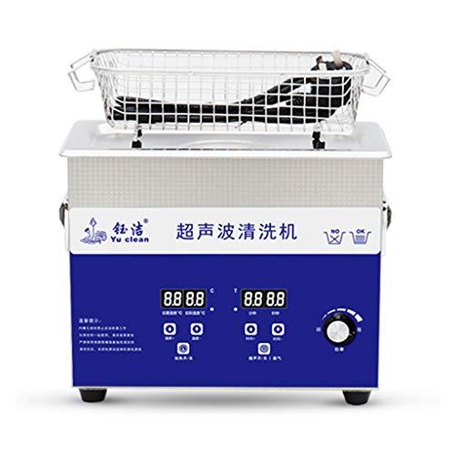 Máquina De Limpieza por Vibración Ultrasónica, Ajuste De Temperatura + Temporización + Potencia Ajustable + Lavadora De Desgasificación De Joyería, Equipo De Limpieza De Descontaminación con Capacid