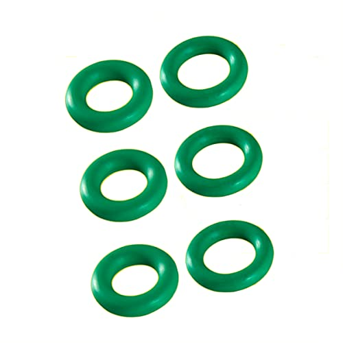 Fluorine Rubber O-Rings Gasket, Rubber Washer Round Sealing Ring, 19mm OD 14mm ID 2.5mm Width Gasket Rings Seal Grommets, Green, 50 Pcs