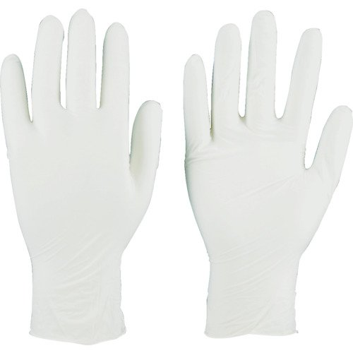 TRUSCO(トラスコ) ニトリル 使い捨て 極薄 手袋 M ホワイト 白 粉なし 0.06 200枚 TGL-440-M M