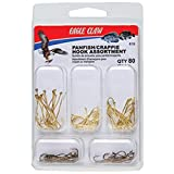 Eagle Claw PANFISH/Crappie Hook Assortment, Fishing Hooks for Freshwater PANFISH/Crappie, 80 Hooks, Sizes 2 to 8, Brown, One Size (619H)