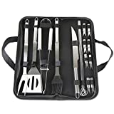 Futurekart Stainless Steel BBQ Grill Tool Set of 18 Pcs - Silver