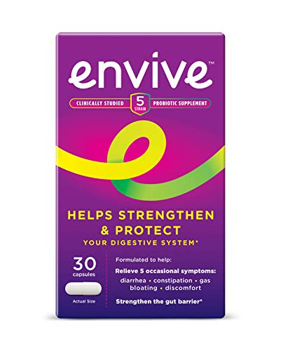 Envive Daily Probiotic Supplement for Men and Women from Bausch + Lomb, Helps Strengthen and Protect The Digestive System*, 30 Capsules