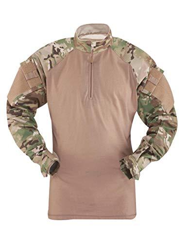 Tru-Spec Men's Regular T.R.U. 1/4 Zip Combat Shirt, Multicam/Coyote, Medium