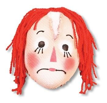 Horror-Shop Rag Doll Puppen Mask
