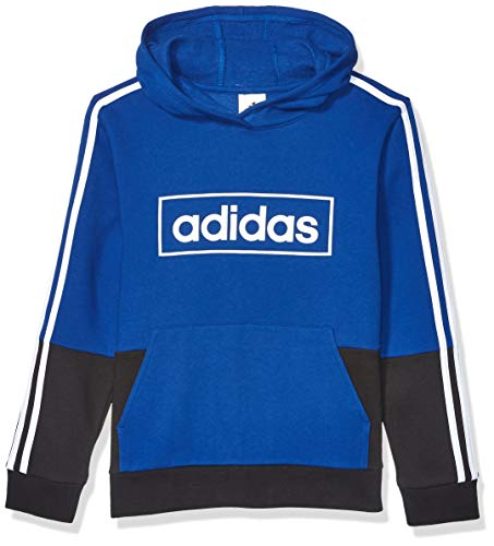 adidas Boys' Big Colorblock Pullover Sweatshirt, Blue, M(10/12)