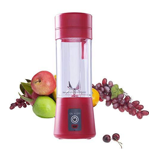 XCDMT Mixeur De Jus Portable 400 Ml Usb Presse-Agrumes Tasse Mixeur De Fruits Multi-Fonctions Mélangeur Six Lames