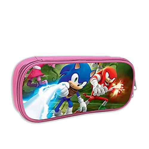 Astuccio Sonic con cerniera Classic Sonic Compact Organizer Storage Astuccio per penna Sonic Astuccio per matite Sonic Borsa impermeabile Oxford Borsa per matite per studenti Bambini Bambini