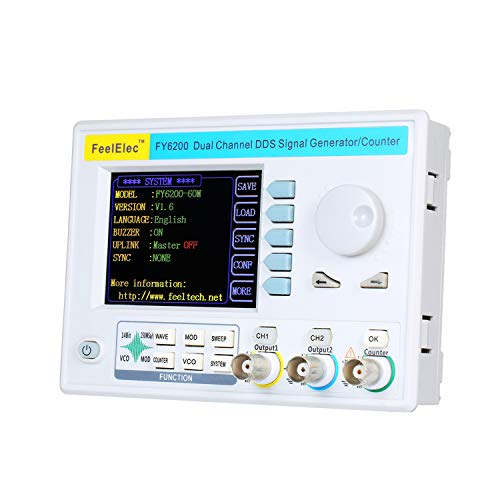 KKmoon 60 MHz DDS Generator Digitaler Zweikanal Signalgenerator Funktionssignal/Arbiträrsignalgenerator Impulssignalquelle 250 MSa/s Frequenzmesser VCO-Impuls AM/PM/FM/ASK/FSK/PSK