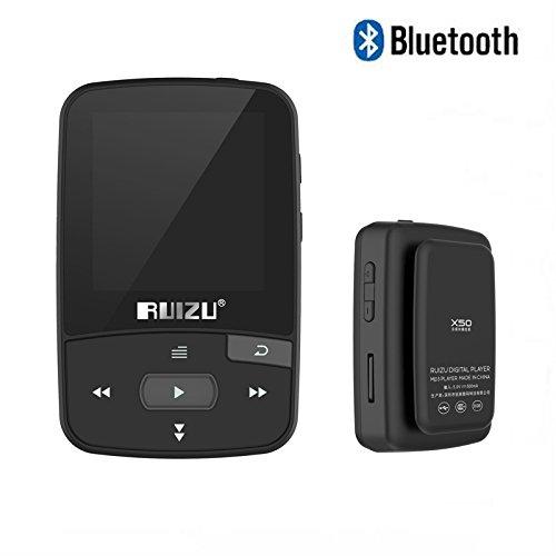 Original RUIZU X50Mini Clip Deporte Bluetooth Reproductor de MP38GB Reproductor de música apoyo TF tarjeta, FM Radio, grabación, e-book, cronómetro
