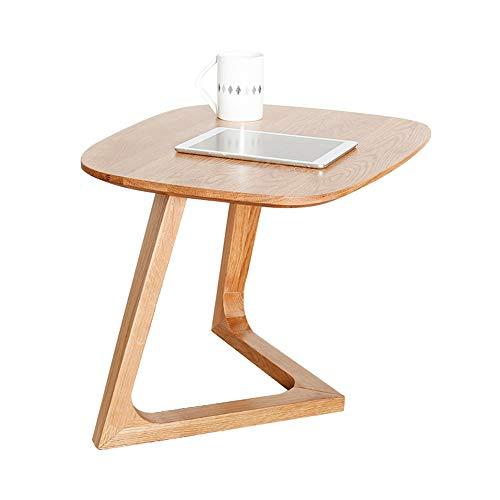 Tables HAIZHEN Pliable Côté, d'appoint en Bois Massif avec Pieds en Forme de V, Petite Basse 60 * 47 * 43.5cm Stations de Travail informatiques