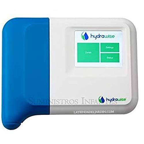 Programador WiFi eléctrico Hunter 6 Zonas Interior. Programador de riego Hydrawise controlado vía WiFi Desde Cualquier Parte del Mundo Desde su móvil iPhone o Android, y Ordenador