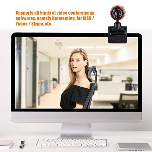 Richer-R HD Webcam, HD USB PC Webcam Web Cam Camera,Horizontal 360 ° Drehen USB 2.0 Webkamera mit Digital Mikrofon für PC Laptops Desktop Videotelefonie MSN/Yahoo/Skype usw.