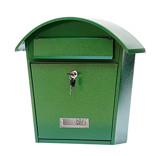 AQAQ Outdoor Briefkasten Retro Gusseisen Wand Briefkasten, Briefkästen Abschließen Sicherer Briefkasten Draußen, Postkasten für Veranda Zimmer Dekore