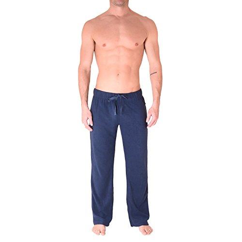 Cherokee Men's Polyester Plush Pajama Pants Sleepwear, Army Green/Lumber Jack/Navy, Large