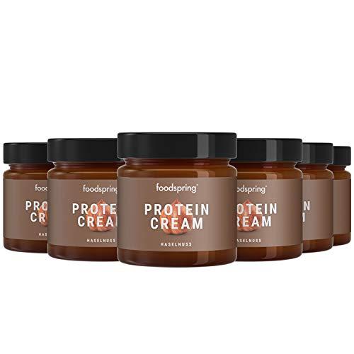 foodspring Crema Proteica, Cacao y Avellanas, Pack de 6 x